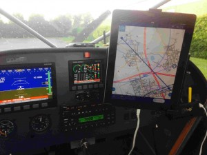 cockpit Mission ipad attached to glareshield