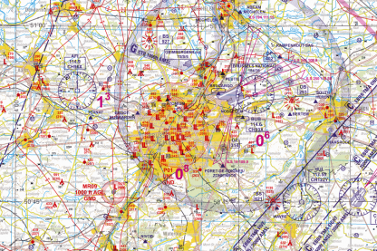 VFR chart Belgium